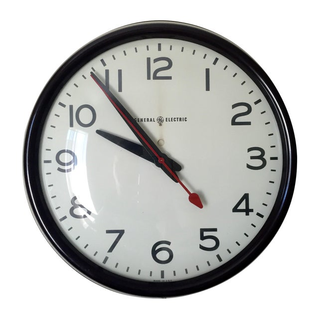 MCM General Electric Second Hand Wall Clock For Sale