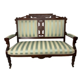 Late 19th Century Victorian Eastlake Settee For Sale