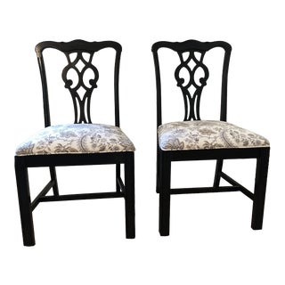 Statesville and Ross Chippendale Chairs - a Pair For Sale