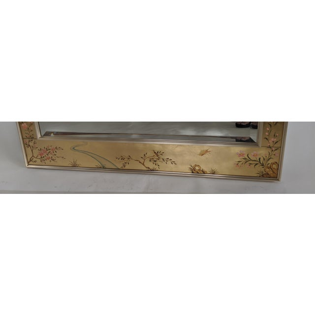 La Barge Chinoiserie Reverse Hand Painted Eglomise Mirror For Sale In Miami - Image 6 of 12