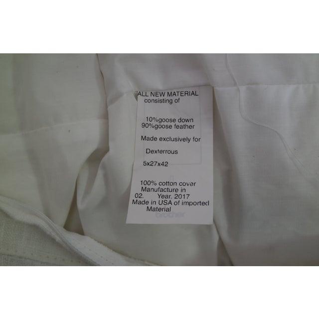 Custom Designer White Linen Slipcovered Sofa - Image 4 of 11