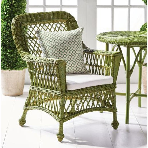 """Rustic European Kenneth Ludwig Green Normandy 30"""" Cafe Table For Sale - Image 3 of 4"""