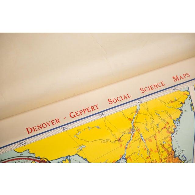 Denoyer-Geppert Vintage USA Social Science Map For Sale - Image 4 of 4