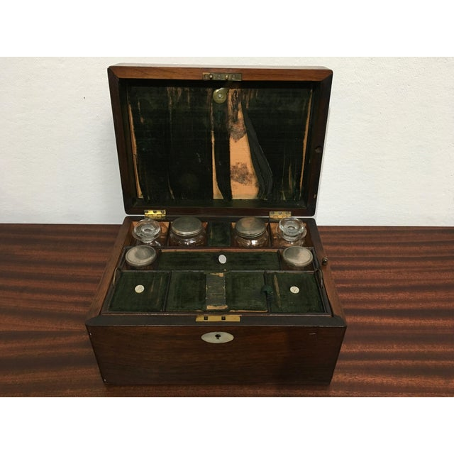 Victorian Gentleman's Traveling Dressing Table Set For Sale - Image 10 of 10