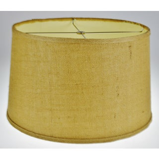 Vintage Grass Cloth Drum lampshade Preview