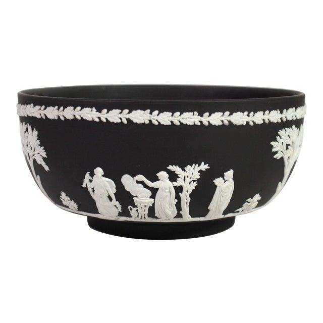 """1940s Neoclassical Greek Figurative Wedgwood Jasperware Black """"Sacrifice Bowl"""" For Sale"""