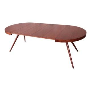 Robsjohn-Gibbings for Widdicomb Mid-Century Modern Splayed Leg Extension Dining Table, Newly Restored For Sale