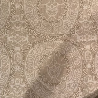 "6 Yards Quadrille ""Veneto"" Taupe on Tint Fabric For Sale"