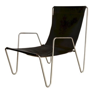 Verner Panton for Fritz Hansen Leather 'Bachelor' Chair For Sale