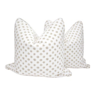 """Jane Shelton """"Martini"""" 22"""" Square Double Sided Pillows - a Pair For Sale"""