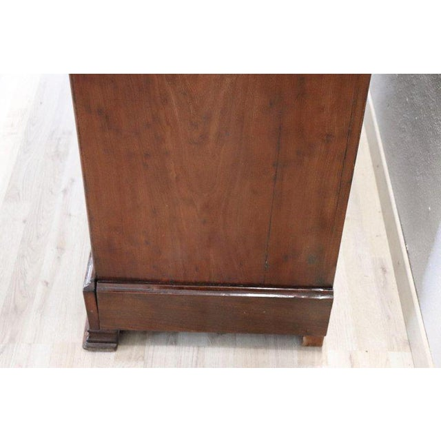 19th Century Italian Mahogany Commode Chest of Drawers With Marble Top For Sale - Image 12 of 13