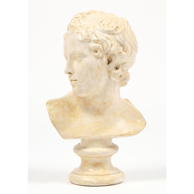 Antique French Plaster Child Bust - Image 3 of 9