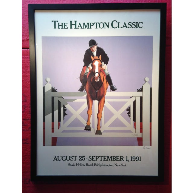 THE HAMPTON CLASSIC POSTER 1991 by Lynn Curlee The Hampton Classic is one of the premiere jumping shows in America. It is...