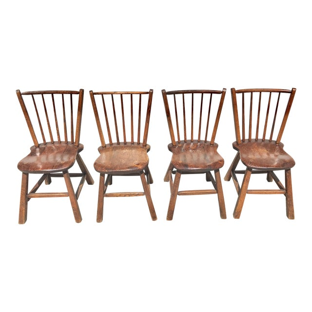 Early 1900's Wood Chairs - Set of 4 - Image 1 of 4