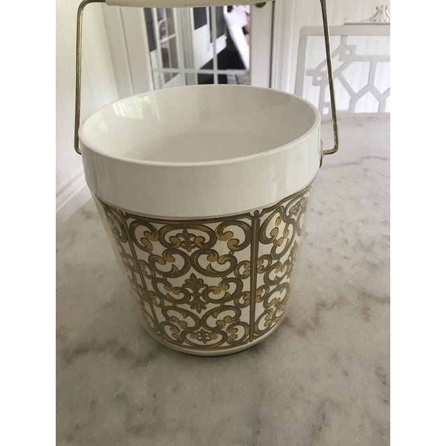 Gold 1980s Mid-Century Modern George Briard Fleur De Lis Ice Bucket For Sale - Image 7 of 10