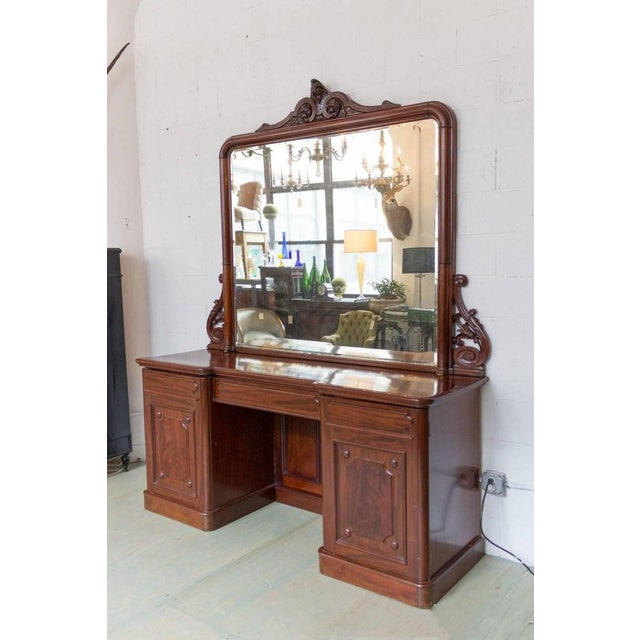 19th Century 19th Century Antique Sideboard With Mirror For Sale - Image 5 of 11