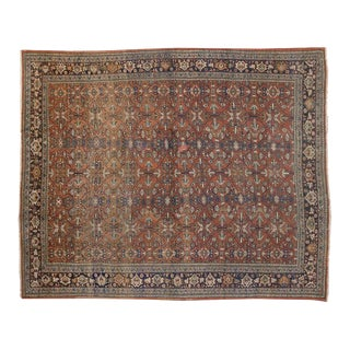Antique Persian Mahal Rug - 10'07 X 12'08 For Sale