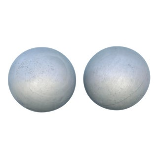 "42"" 1970s Hollow Aluminum Spheres - A Pair For Sale"