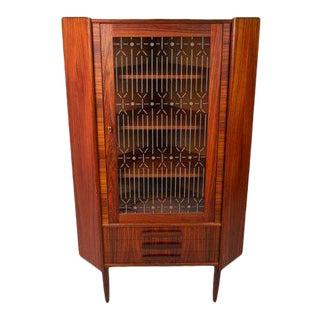 Danish Rosewood 3-Drawer Corner Cabinet For Sale