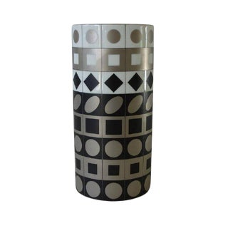 Vasarely for Rosenthal Signed and Numbered Vase For Sale