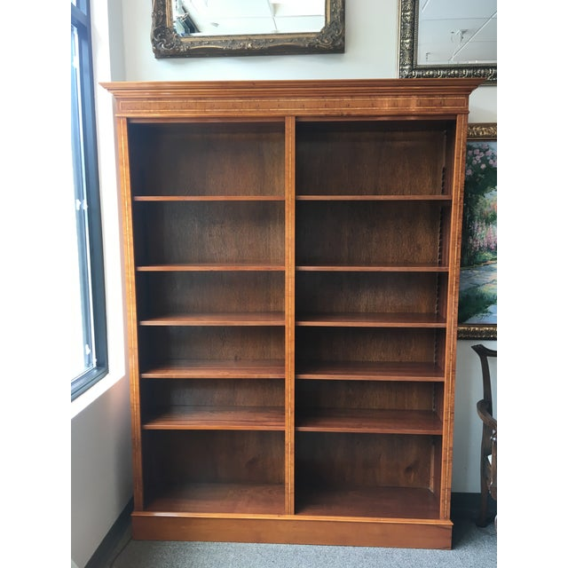 English Yewood Double Bookcase For Sale - Image 9 of 9