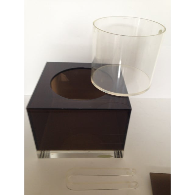 Smokey & Clear Lucite Ice Bucket - Image 5 of 6