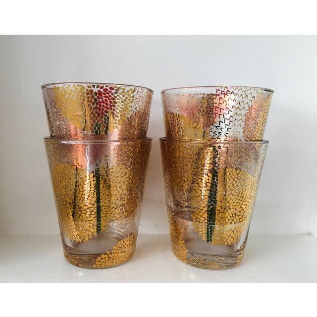 Gold Chrysanthemum Glasses - Set of 4 - Image 4 of 8