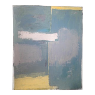 Contemporary Abstract Blue and Grey Painting For Sale
