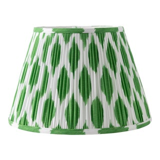 "Signature Ikat in Green 14"" Lamp Shade, Kelly Green For Sale"
