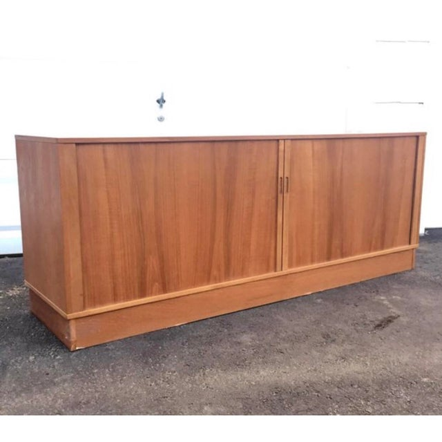 Danish Modern Mid-Century Modern Teak Credenza or Tv Console For Sale - Image 3 of 11