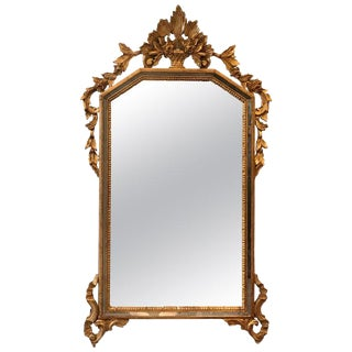 French Louis XV Style Giltwood Mirror For Sale