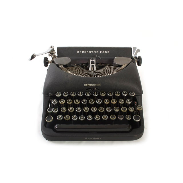 This handsome Remington Rand typewriter was manufactured in the 1940's and is in excellent working order. It has been...