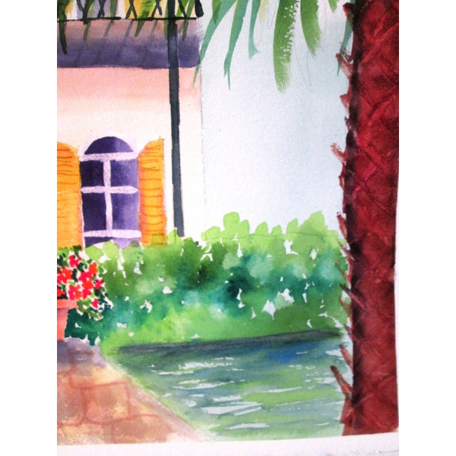 'Afternoon' Watercolor Painting - Image 6 of 7