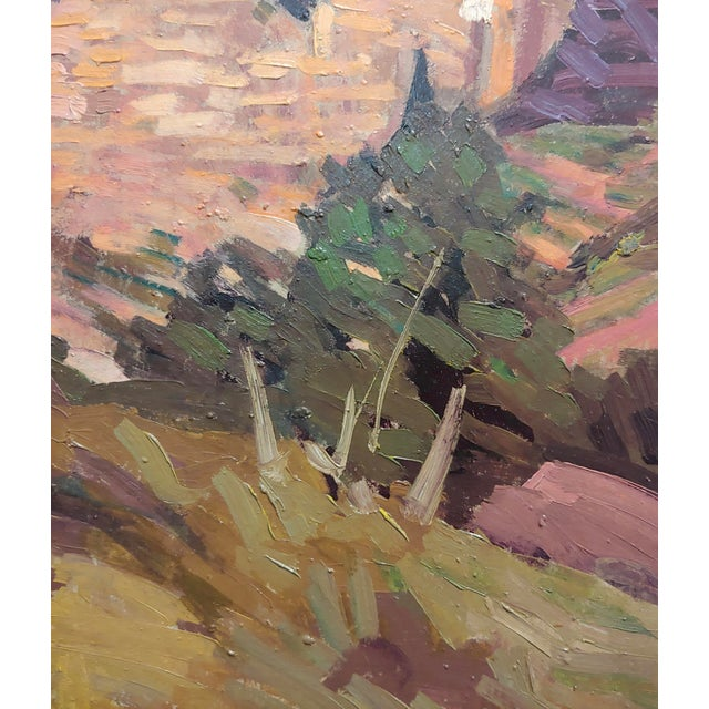 "1930s Conrad Buff ""Rugged Cliffs Landscape"" Oil Painting For Sale - Image 5 of 9"