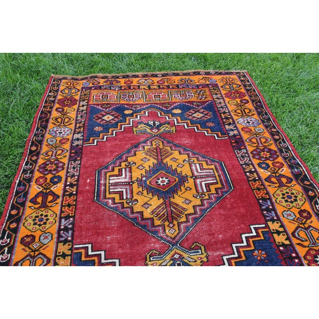 Islamic Antique Nomadic Hand-Knotted Anatolian Carpet - 3′10″ × 5′9″ For Sale - Image 3 of 6