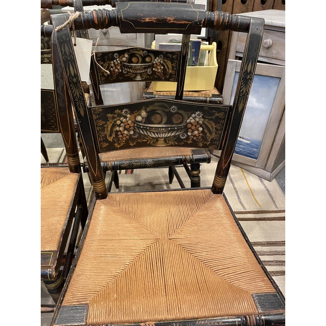 Traditional Late 19th Century Hitchcock Style Chairs - Set of 4 For Sale - Image 3 of 9