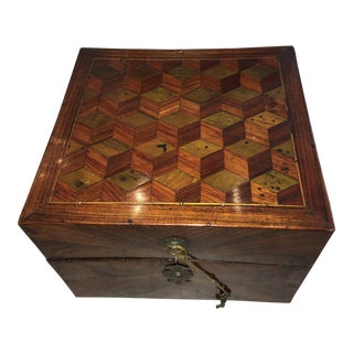 Louis XV 18th Century Marquetry Perfume Box with Bottles - 8 Pieces For Sale
