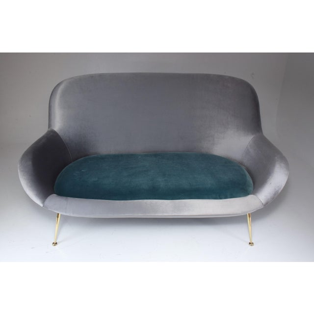 Marvelous Italian Midcentury Velvet Sofa Set By Isa Bergamo 1950S Uwap Interior Chair Design Uwaporg