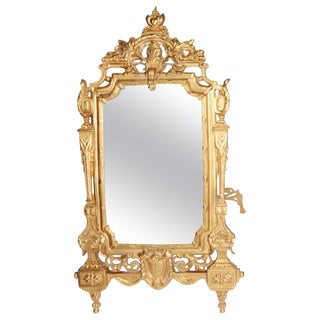 19th Century French Gilt Framed Table Mirror For Sale