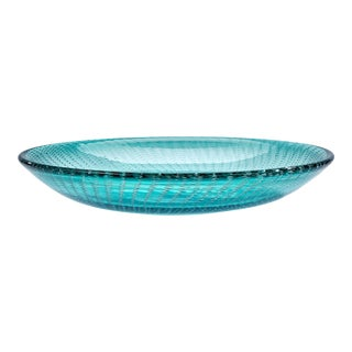 Mid-Century Modern Large Aqua Murano Glass Bowl For Sale