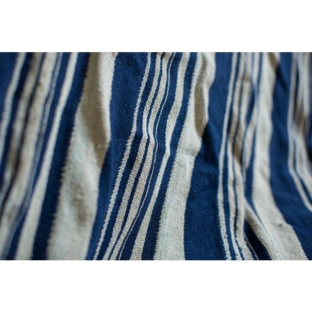 Vintage Indigo Stripe Throw - Image 5 of 7