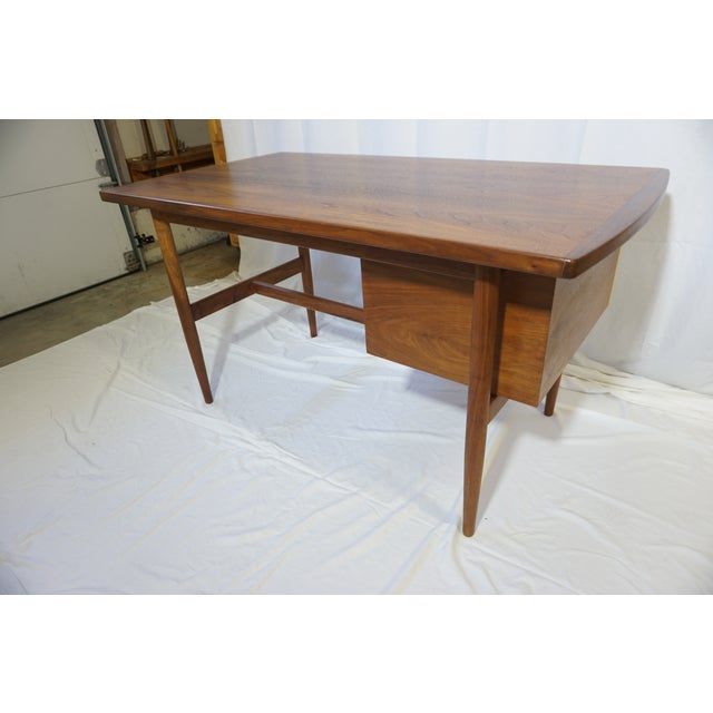 Danish Modern 1950s Danish Modern Jens Risom Design Inc Writing Desk For Sale - Image 3 of 13