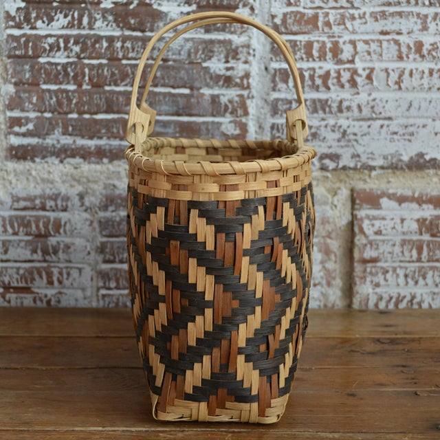 Carol Welch Cherokee White Oak Purse Basket - Image 6 of 10