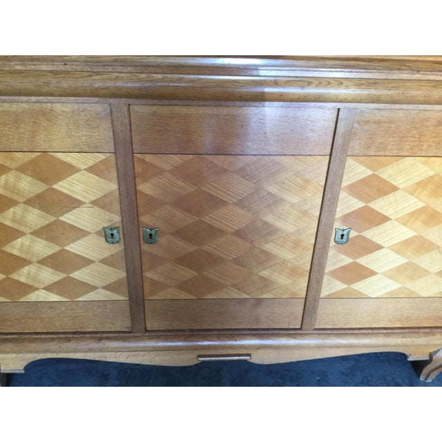 1930s Vintage French Art Deco Credenza For Sale - Image 4 of 9