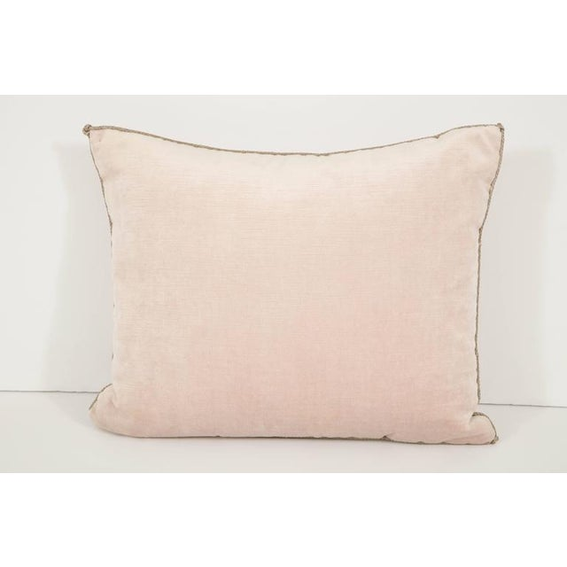 B. VIZ Design Early 21st Century Vintage Pillow With Antique Embroidery For Sale - Image 4 of 9
