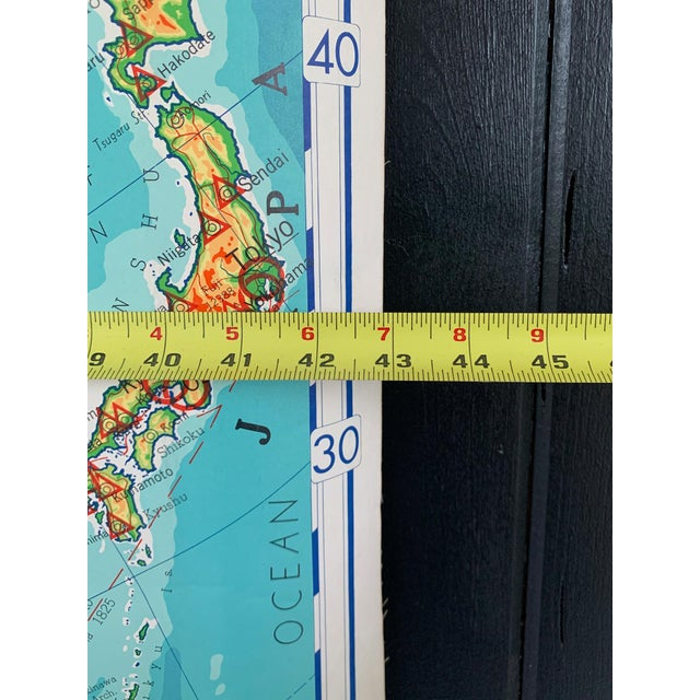 Mid-Century Modern Mid 20th Century Denoyer Geppert Pull Down Map of Asia For Sale - Image 3 of 8