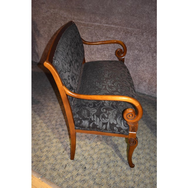 1980s Vintage Italian Provincial Style Settee For Sale - Image 10 of 13