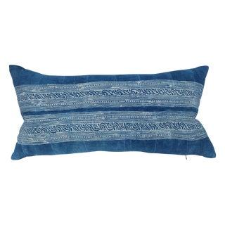 Sky Blue Batik Lumbar Pillow