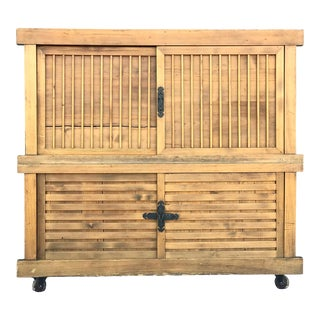 Japanese Meiji Period Two-Part Tansu For Sale