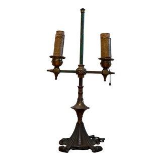 Rembrandt Antique Bouillotte Iron Tole Lamp, 1920s For Sale